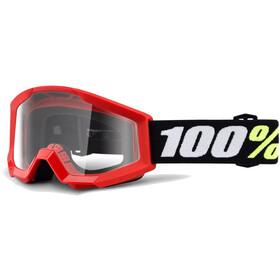 100% Strata Mini Anti Fog Clear goggles rood